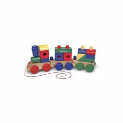 Personalized Wooden Train Playset