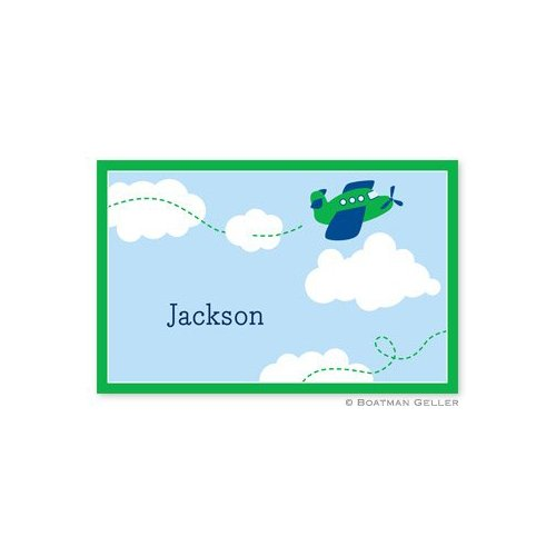 Personalized Disposable Airplane Placemat