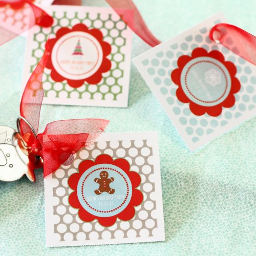 Personalized Holiday Themed Favor Tags