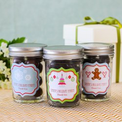 Personalized Holiday Mason Jars