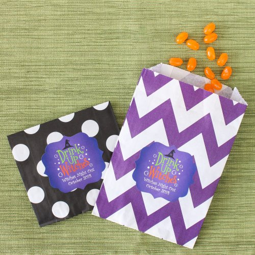 Personalized Halloween Pattern Goodie Bags