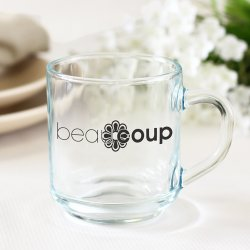 Corporate Logo 10 oz. Glass Mug with Handle