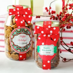 Corporate Logo Cookie Gift Jars