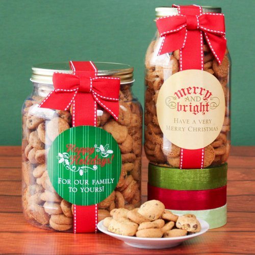 Personalized Christmas Cookie Gift Jars