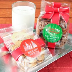 Personalized Holiday Cookie Favor Bags