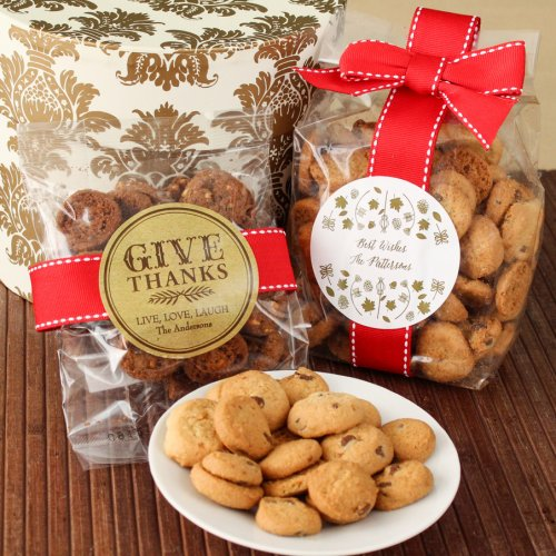 Personalized Thanksgiving Cookie Favor Bags
