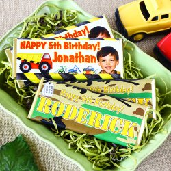 Personalized Kids Birthday Hershey's Chocolate Bars