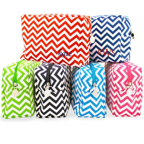 Personalized Chevron Spa Bag