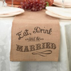 Personalized Burlap Table Runner