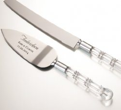 Personalized Acrylic Cake Server Set