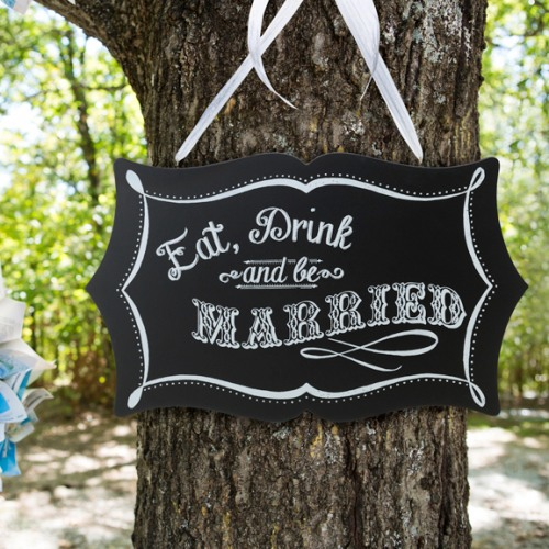 Eat Drink and Be Married Chalkboard Sign