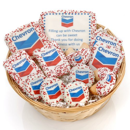 12-Piece Corporate Logo Cookie Gift Basket