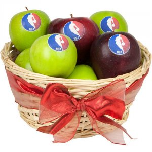 Corporate Logo Apple Gift Basket