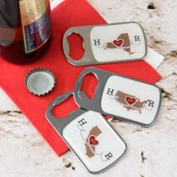 Personalized Bottle Opener with Epoxy Dome
