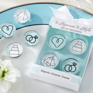 Glass Wedding Magnets