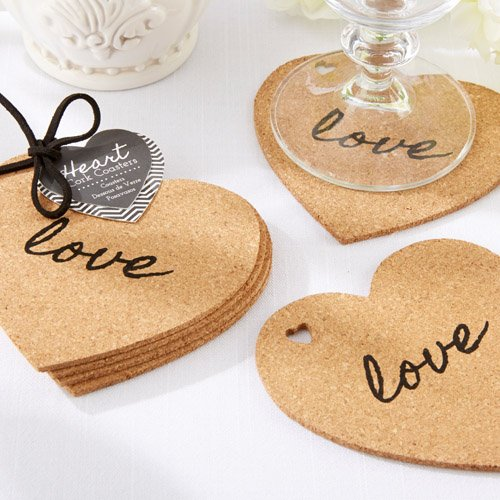 Heart Shaped Coasters Love Cork Coasters Heart Cork Coasters