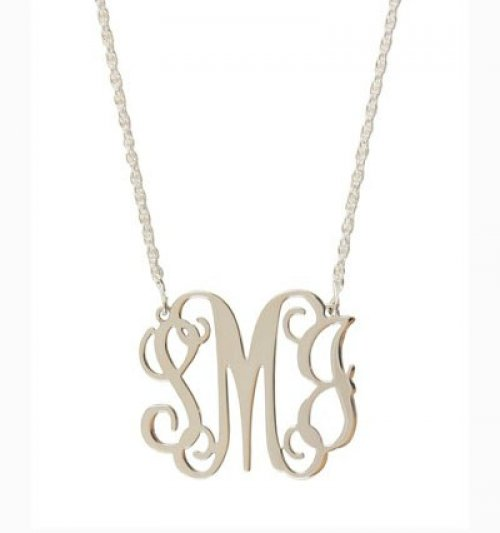 Floating Monogram Filigree Necklace