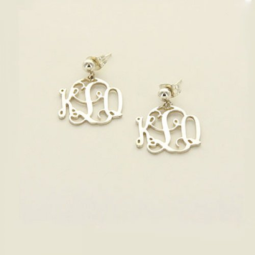 Floating Monogram Earrings