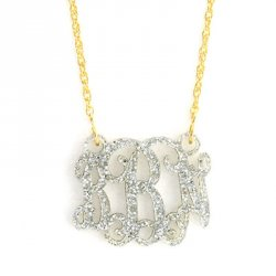 Acrylic Floating Monogram Necklace