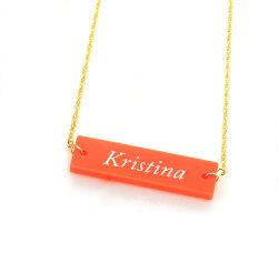 Acrylic Block Necklace