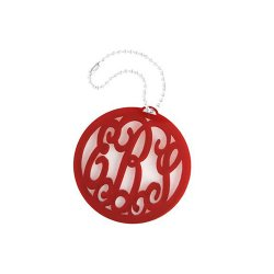 Acrylic Monogram Bag Tag and Key Ring