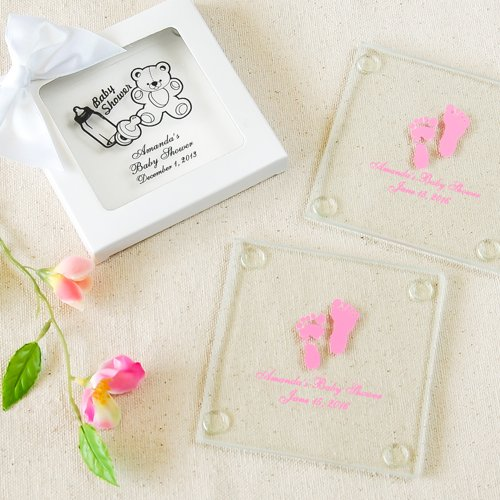 Baby Shower Glass Coasters Personalized Glass Coasters