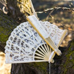 Anitqued Lace Hand Fan