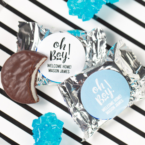 Personalized Oh Boy Baby Shower York Peppermint Patties