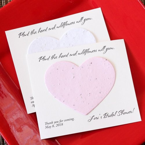 Personalized Plantable Heart Seed Card Favors