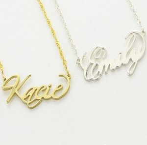 Custom Filigree Name Necklace