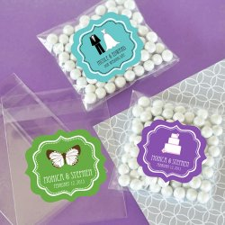 Personalized Clear Bridal Candy Bags