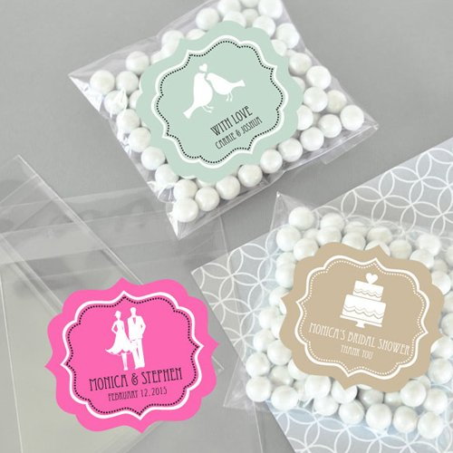 Personalized Clear Modern Theme Candy Bags