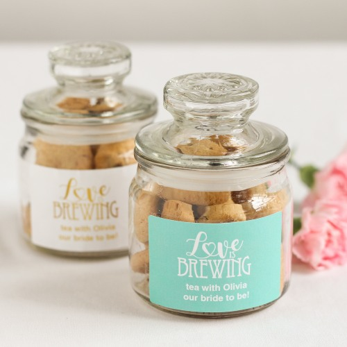 Personalized Love is Brewing Mini Cookie Jars