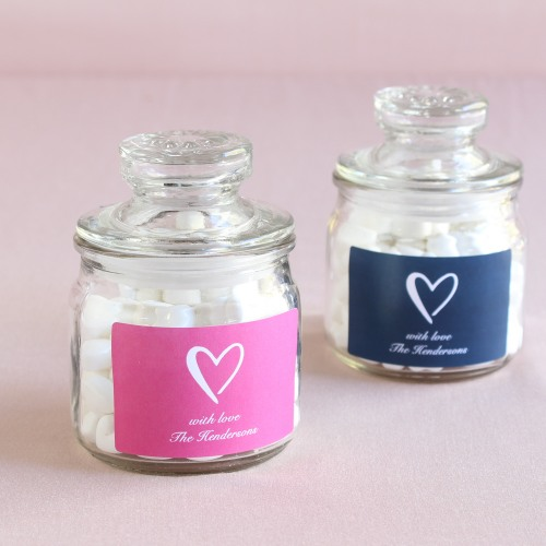 Personalized Heart Wedding Themed Cookie Jars