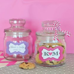 Personalized Mini Bridal Cookie Jars