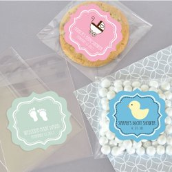 Personalized Clear Baby Candy Bags