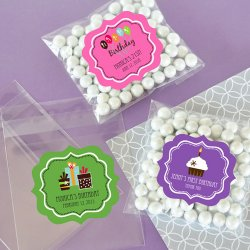Personalized Clear Birthday Candy Bags