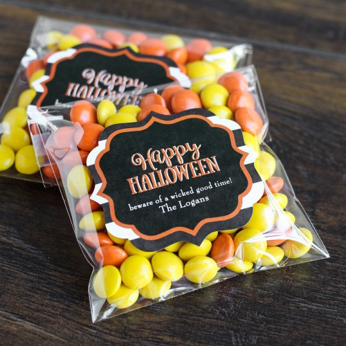 Personalized Halloween Clear Candy Bags