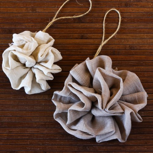 Fabric Ruffle Flower