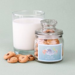 Personalized Mini Baby Shower Themed Cookie Jars