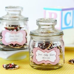 Personalized Mini Baby Shower Cookie Jars