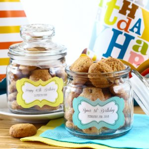 Personalized Mini Birthday Cookie Jars