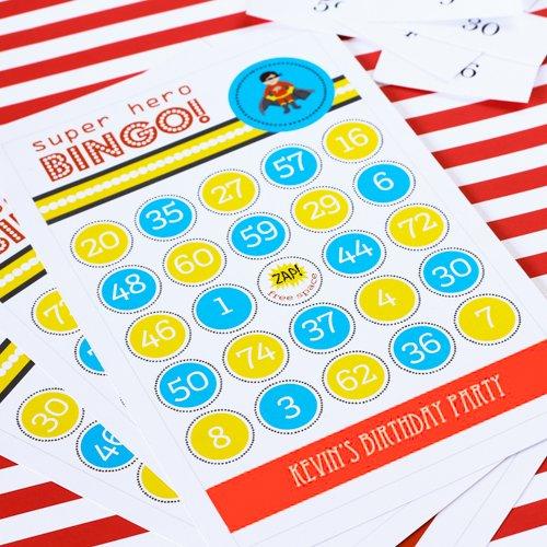 Personalized Birthday Themed Bingo Game