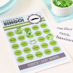 Personalized Baby Shower Themed Bingo Game