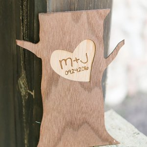 Personalized Wood Tree Trunk Sign