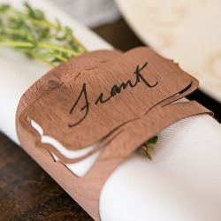 Wood Placecard Napkin Ring