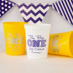 Personalized Birthday Stadium Cups