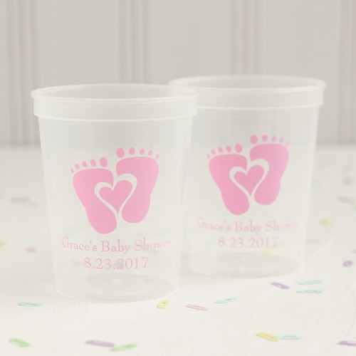 Personalized Baby Feet Stadium Cups