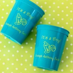 Personalized Baby Shower Stadium Cups