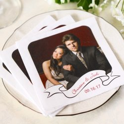 Personalized Photo Bridal Napkins